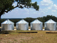 4 corrugated tanks