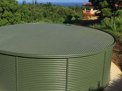 Green Fire Protection Tank